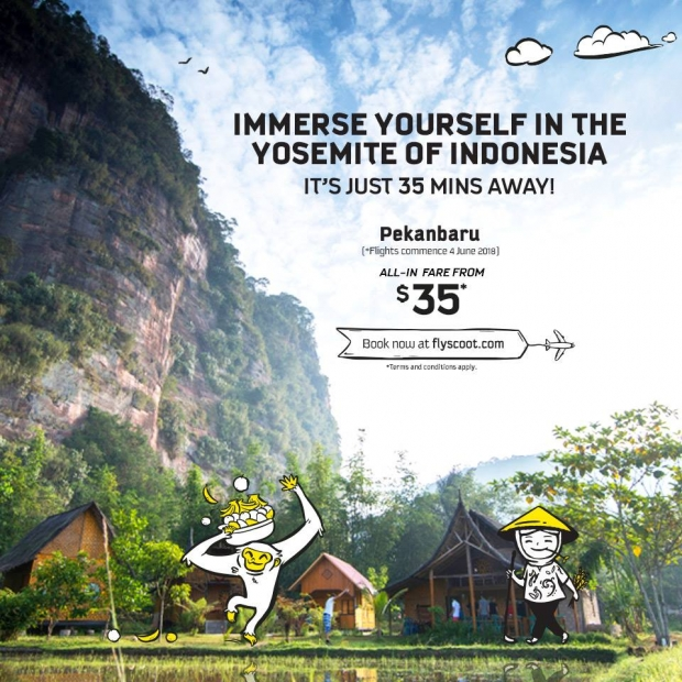 Fly yo Pekanbaru from SGD35 with Scoot