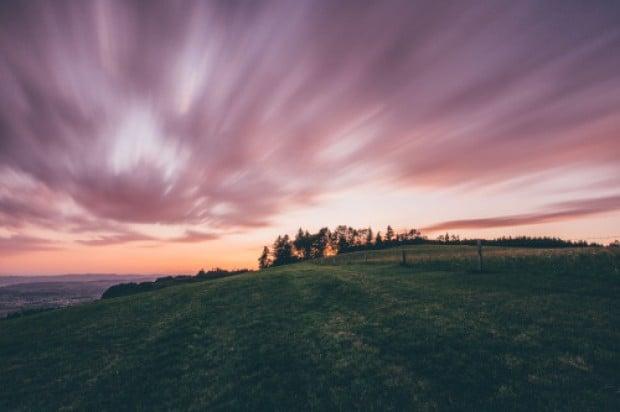 Sunset in Bachtel Kulm