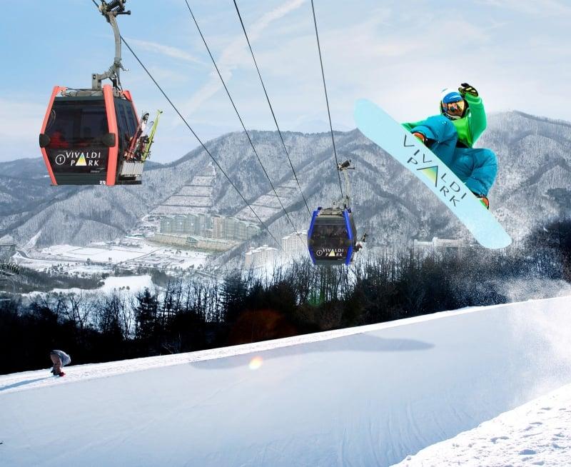 ski resorts in gangwon province korea: vivaldi park