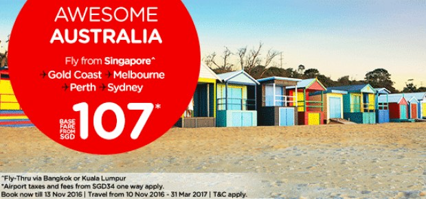 Discover Australia from SGD107* with AirAsia
