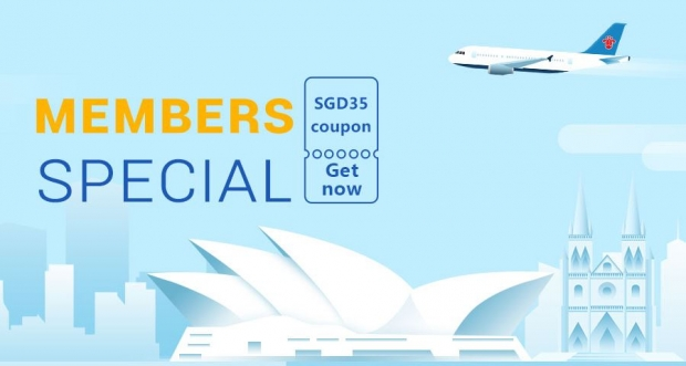 China Southern Airlines' Members Special with SGD35 Coupon Code