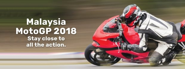 Malaysia MotoGP 2018 - Stay Close to Action with Tune Hotels