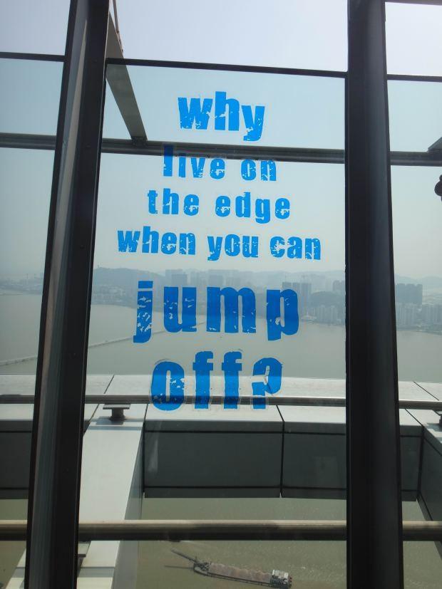 jump off the edge