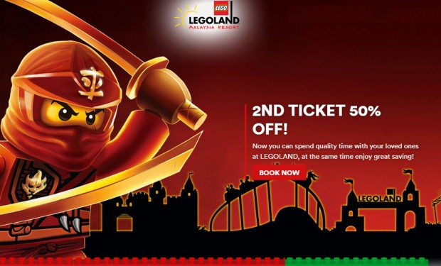 2nd Ticket at 50% Off in Legoland Malaysia