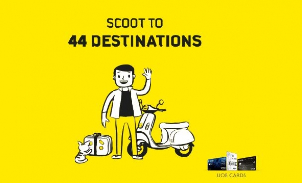 Scoot to 44 Destinations at 20% Off with UOB Card!