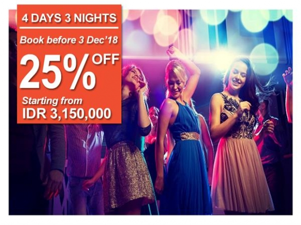 Save up to 25% Off at Swiss-Belhotel Rainforest as you Celebrate the New Year