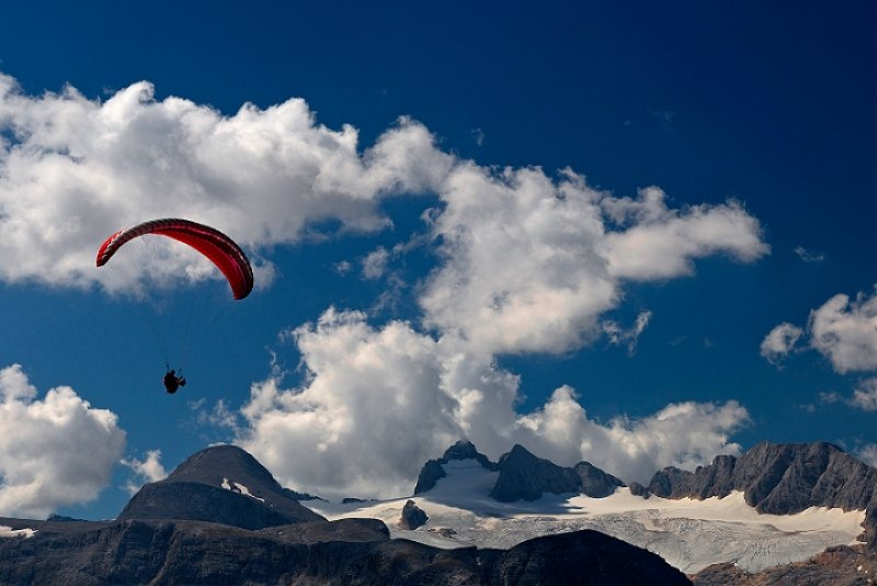 Paragliding in Krippenstein