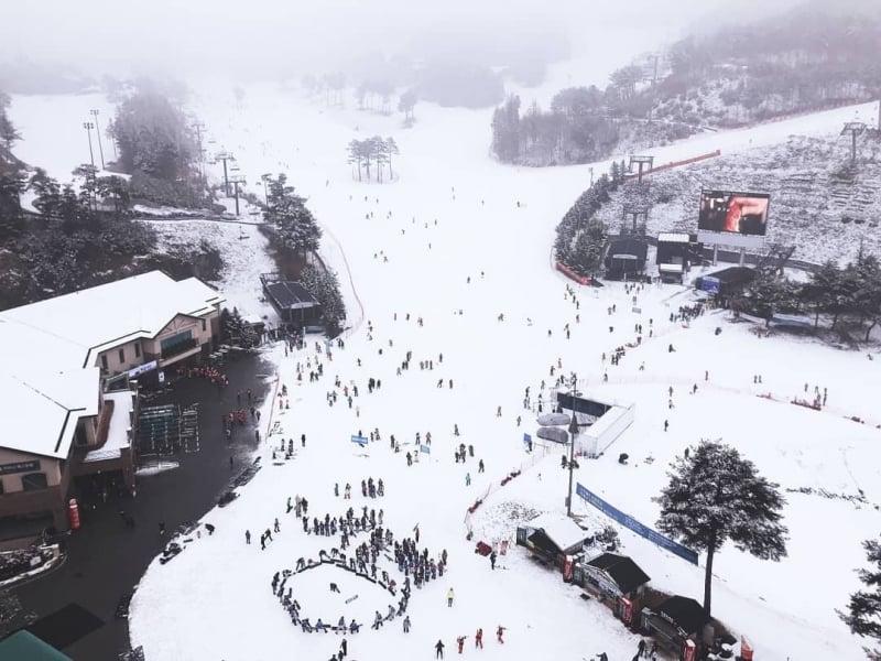 skiing in korea: oak valley resort