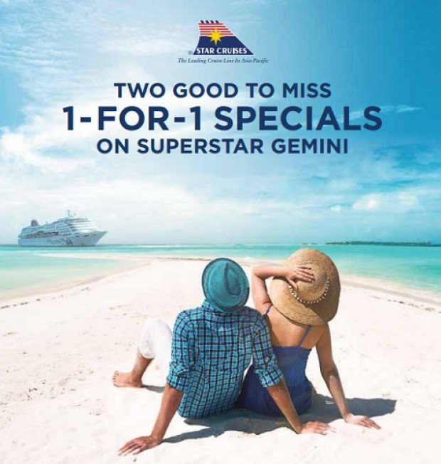 1-FOR-1 Special Star Cruises Deal on Superstar Gemini
