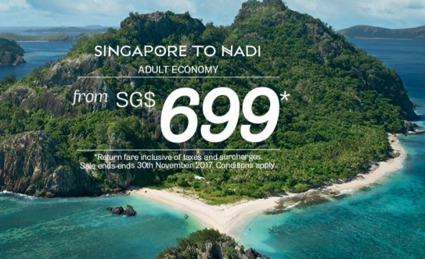 Fly to Nadi with Fiji Airways from SGD699