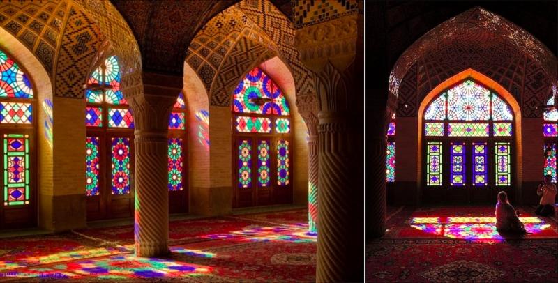 Pink Mosque Nasir ol Molk Mosque ShirazIran
