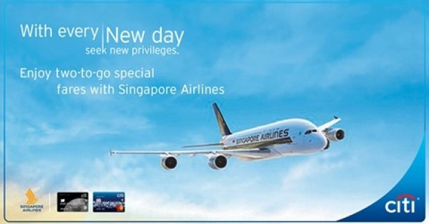 Enjoy Two-to-Go Special Fares with Citibank and Singapore Airlines