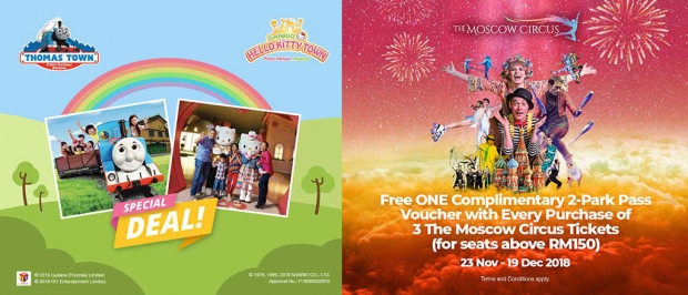 Free ONE Complimentary 2-Park Pass Voucher to Puteri Harbour with The Moscow Circus Tickets