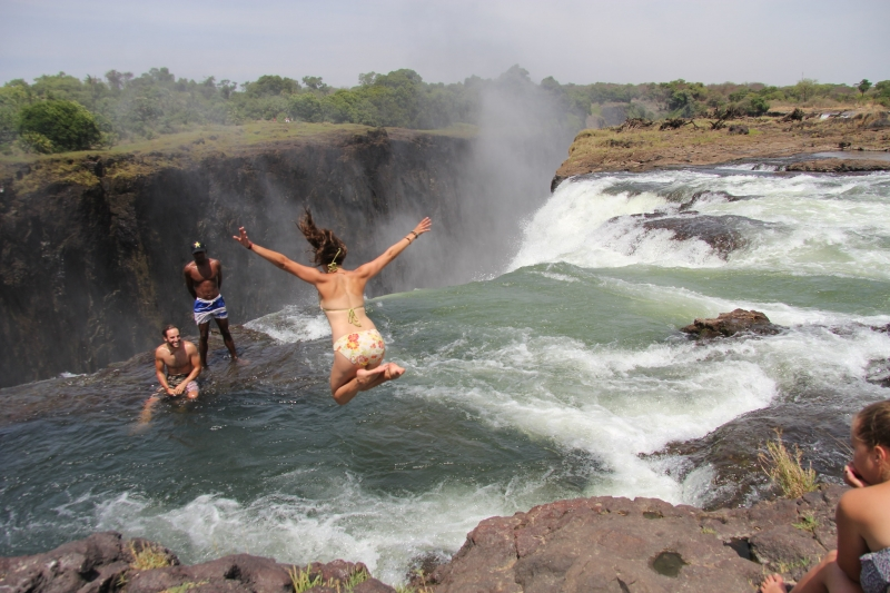 devil's pool at victoria falls, zimbabwe