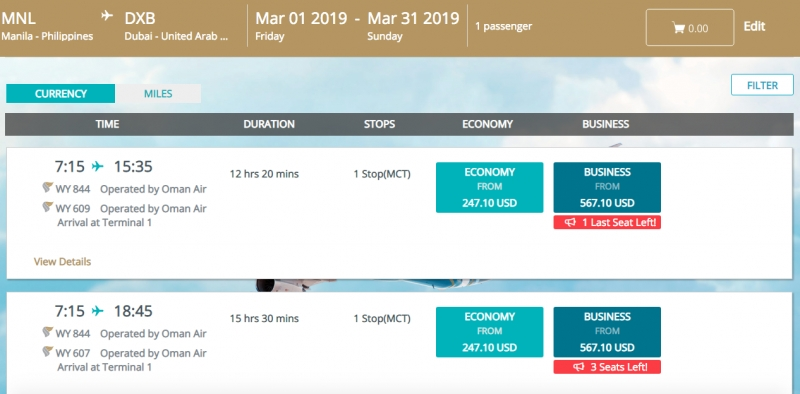 Oman Air New Year Sale 2019: Flights to Europe for Less Than ₱20,000!