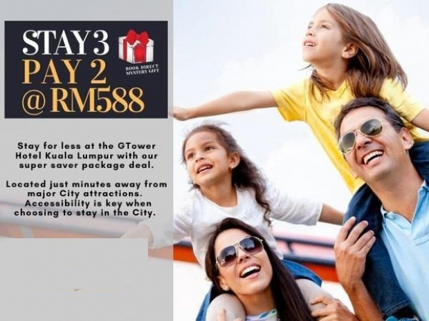 Stay 3 Pay 2 Offer at G Tower Hotel Kuala Lumpur
