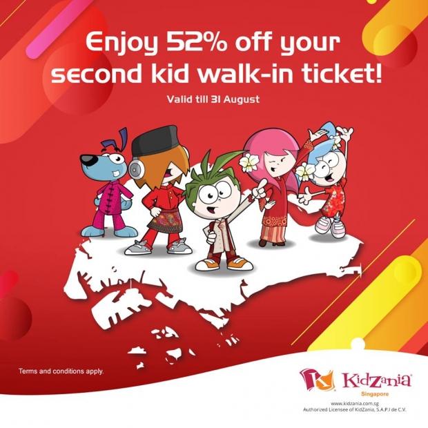 Enjoy 52%* Off Second Kid Walk-in Tickets in KidZania