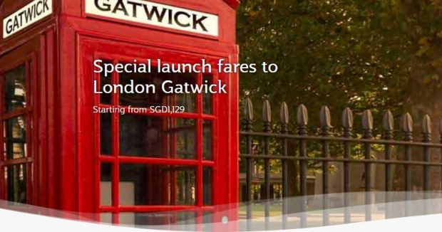 Special Launch Fares to London Gatwick in Qatar Airways