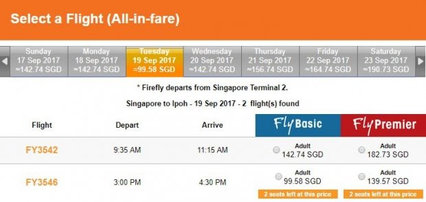Fly to Ipoh from SGD99 with Firefly Airlines 1
