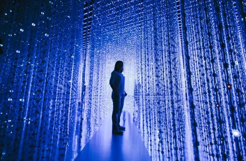 Crystal Universe artwork at Future World Exhibit, ArtScience Museum
