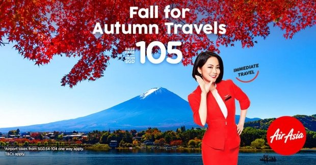 Fall for Autumn Travel Destinations from SGD105 with AirAsia