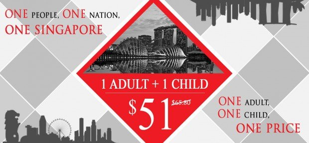 1 Adult + 1 Child from SGD51 in Celebration to National Day with Sentosa 4D AdventureLand
