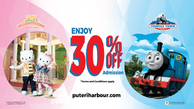 Up to 30% Off Admission Ticket for Sanrio Hello Kitty Town and Thomas Town with NTUC Card