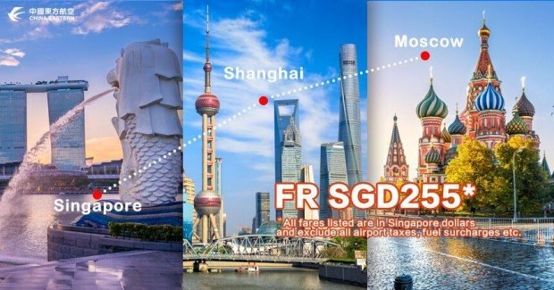 Explore Russia with China Eastern Airlines from SGD225 1