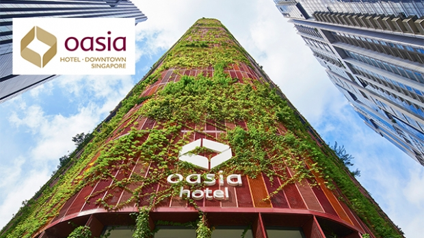 Up to 25% Saving in Oasia Hotel Downtown, Singapore Exclusive for NTUC Cardmembers