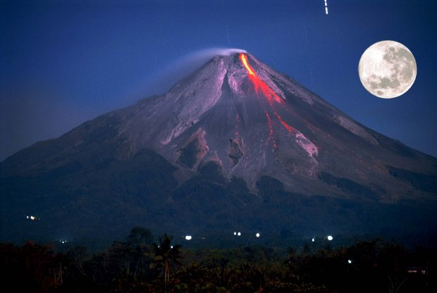 Du Lịch Indonesia, núi lửa