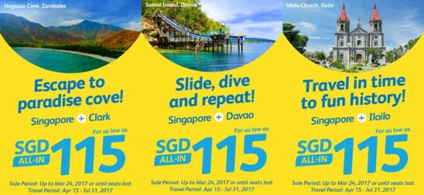 Fly to Philippines with Cebu Pacific from SGD115
