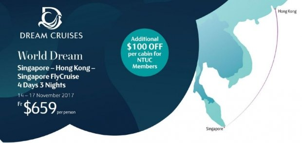 Enjoy SGD100 OFF per Cabin in Dream Cruises Exclusive for NTUC Cardmembers 1