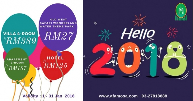 New Year's Amazing Deals in A'Famosa Resort
