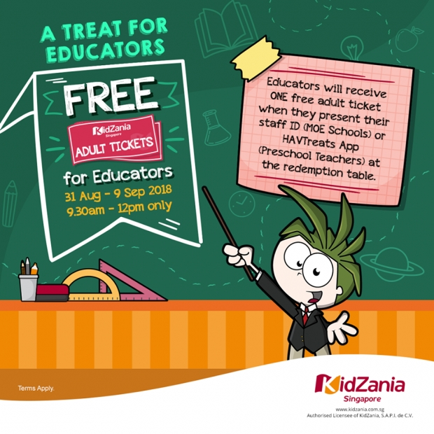A Treat for Educators – Redeem a FREE Adult Ticket to KidZania Singapore