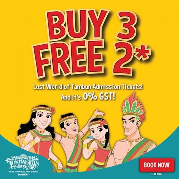 Buy 3 Free 2 Offer in Sunway Lost World of Tambun