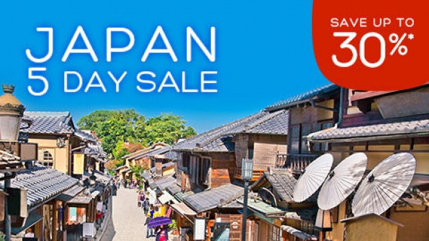 5 Day Sale for your Japan Stay via Hotels.com at 30% Off