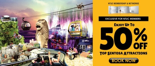 NTUC Exclusive Offer in Singapore Cable Car with 50% Savings