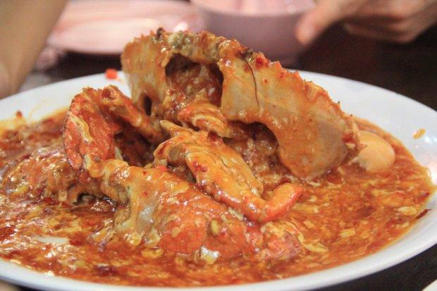 Món ăn ở Singapore: Cua sốt ớt