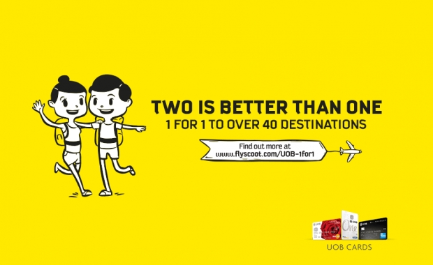 Two is Better than One when you Scoot to your Next Getaway with UOB Card