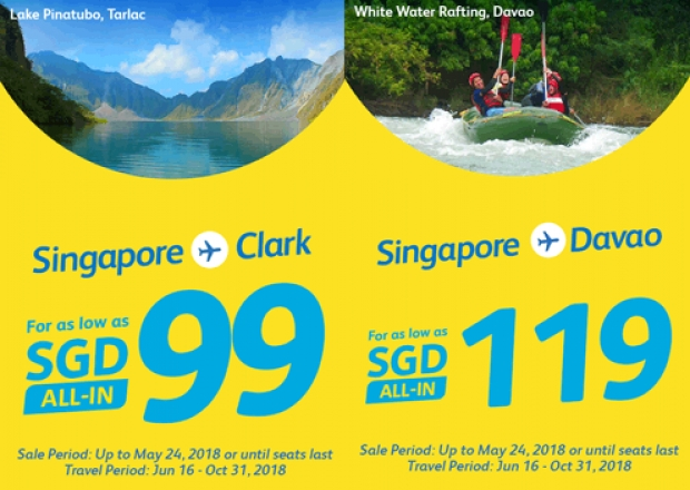Fly to Philippines with Cebu Pacific from SGD95 1