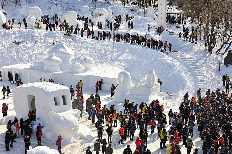 Winter festivals in Gangwon Province