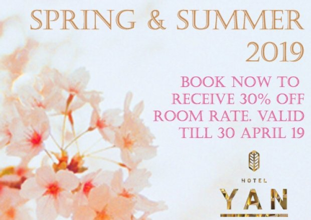 Spring & Summer Offer at Hotel Yan