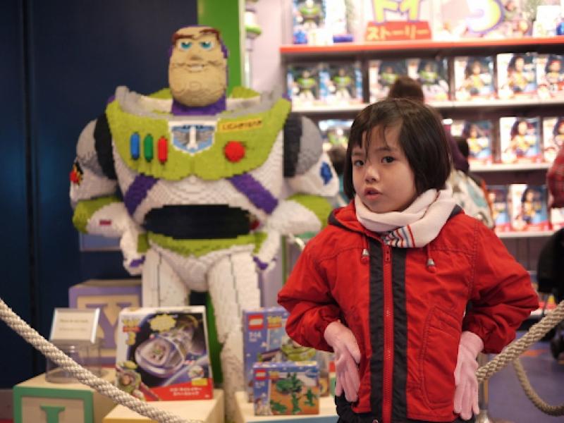 Kid at Tokyo Disneyland