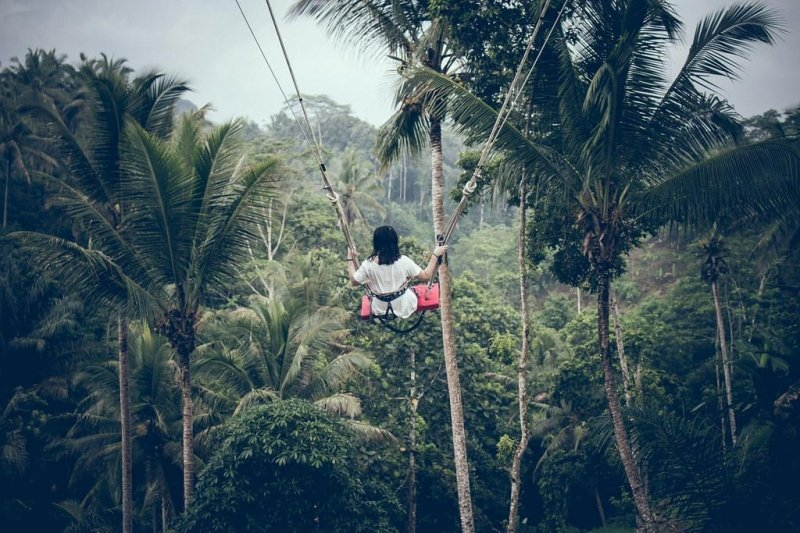 things to do in ubud: jungle swing