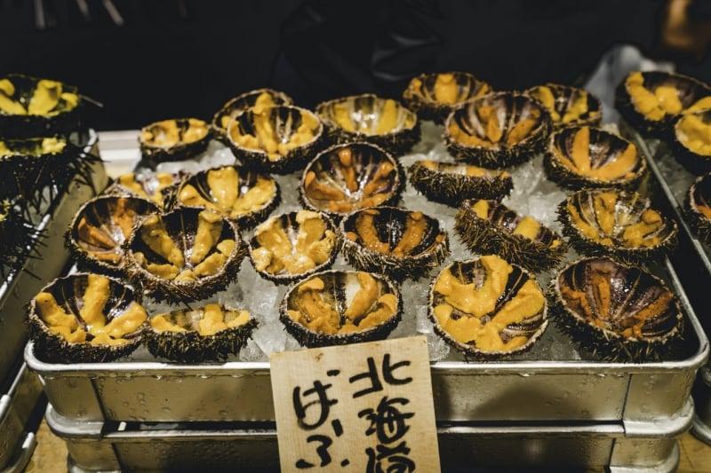 Seafood at Tsukiji Outer Market