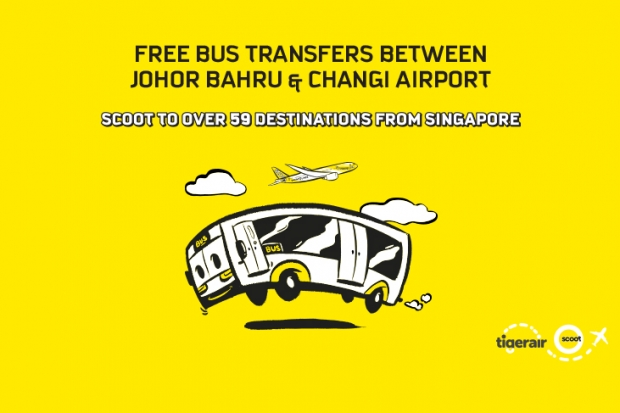 Fly with Scoot and Get a FREE Bus Transfer Between Johor Bahru & Changi Airport