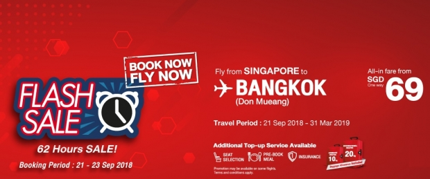 Flash Sale - 48 Hrs to Book your Seat to Bangkok with Thai Lion Air