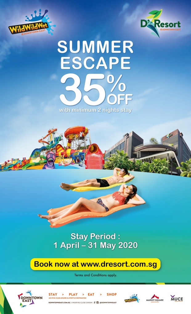 Summer Escape at D'Resort @Downtown East with Up to 35% Savings