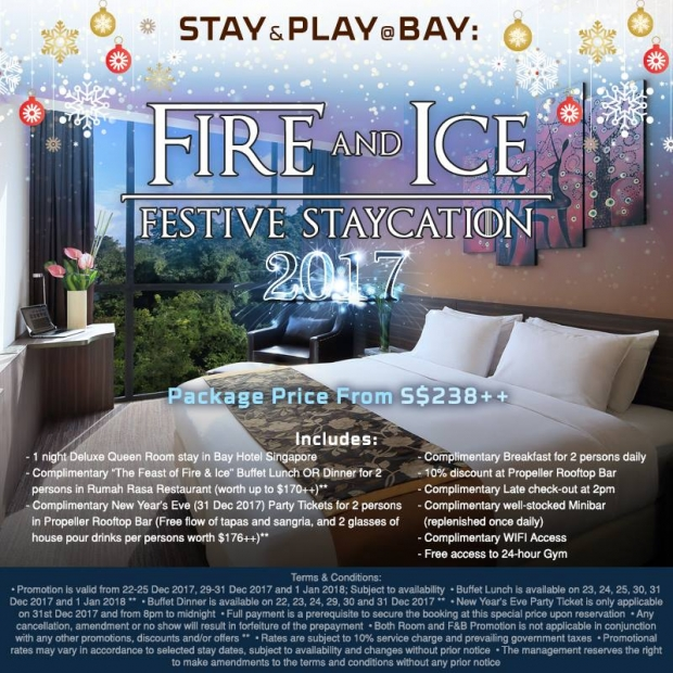 Festive Staycation in Bay Hotel Singapore from SGD238