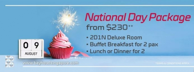 National Day Package from $230++ in Bay Hotel Singapore
